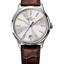 Zenith Captain Central Second Zeljezo 40mm Srebro