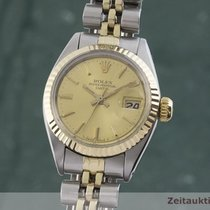 Rolex Lady-Datejust Zlato/Zeljezo 26mm Zlatan