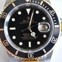 Rolex Submariner Date подержанные 40mm Чёрный Дата Золото/Сталь