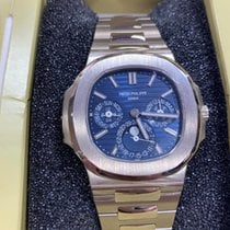 Patek Philippe White gold Automatic Blue No numerals 40mm new Nautilus