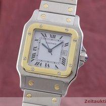Cartier Santos (submodel) Złoto/Stal 29mm Biały
