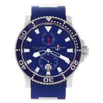 Ulysse Nardin Maxi Marine Diver pre-owned 43mm Blue Date Rubber