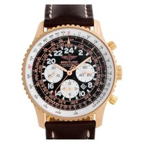 Breitling Rose gold Automatic Black Arabic numerals 40mm pre-owned Navitimer Cosmonaute