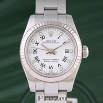 Rolex Oyster Perpetual 26 Acero 26mm Blanco Romanos