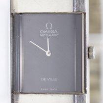 Omega Cеребро Автоподзавод Черный Без цифр 23mm подержанные De Ville