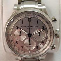 Baume & Mercier Capeland Steel 44mm Silver Arabic numerals United States of America, Rhode Island, Cranston