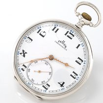 Tellus Open-Face ca. 1945 - 800 Silber - feines Uhrwerk Cal....