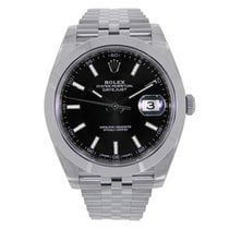 Rolex Datejust 41mm Stainless Steel Black Dial Jubilee...