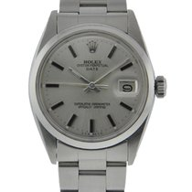 Rolex Oyster Perpetual 34mm Date Stainless Steel Silver Dial...