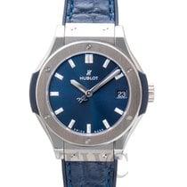 Hublot Classic Fusion Quartz Blue Titanium/Rubber-Leather 33mm...