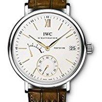 IWC IW510103, Portofino Hand-Wound, Silver Dial, Steel&Lea...