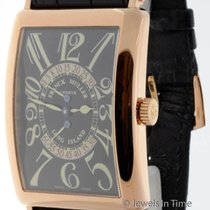 Franck Muller Mens Long Island Retrograde 18K Rose Gold Wrist...