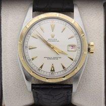 Rolex Datejust 6105 Bubble Back Ovettone 18k Yellow Gold &...