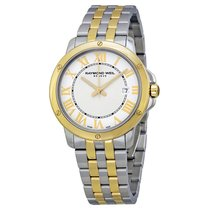 Raymond Weil Tango White Dial Men's Two Tone Watch 5591-STP-00308