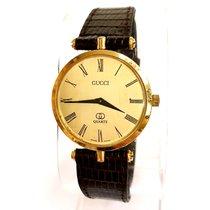 4a6db2f07fe Gucci G-Line 109 Black Dial 18k Gold Plated YA109524 en venta por ...
