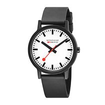 Mondaine Plastik 41mm Quartz MS1.41110.RB MONDAINE SBB ESSENCE Bianco Nero 41mm yeni