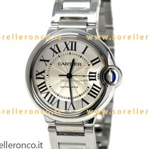 Cartier 36mm Automatisk ny Ballon Bleu 36mm Sølv