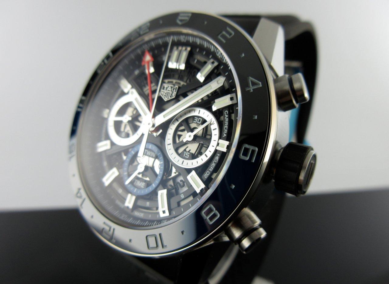 38c5a7728d7 TAG Heuer Carrera Calibre Heuer 02 Chronograph GMT CBG2A1Z.FT6157 - Preise  auf Chrono24 vergleichen