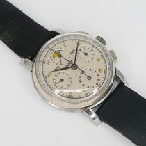 Universal Genève Steel Manual winding Compax pre-owned