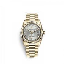 Rolex Day-Date 36 Zuto zlato 36mm Srebro