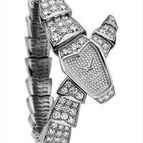 Bulgari White gold Quartz 26mm new Serpenti