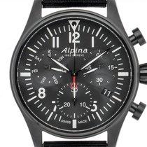 Alpina Startimer Pilot Stahl 44mm Schwarz Arabisch Deutschland, Stuttgart