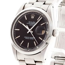 Rolex Oyster Perpetual Date pre-owned 34mm Black Date Steel