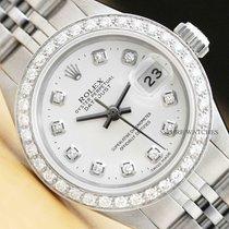 Rolex Oyster Perpetual Lady Date Çelik 26mm Mavi