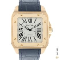 Cartier Santos 100 Rose gold 41mm White Roman numerals