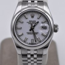 Rolex Lady-Datejust Acero 26mm Blanco Romanos