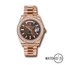 Rolex Rose gold Automatic Brown No numerals 40mm new Day-Date 40