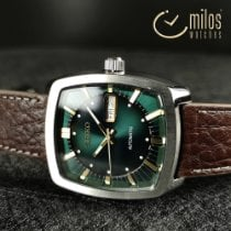 Seiko 5 Steel 39mm Green No numerals