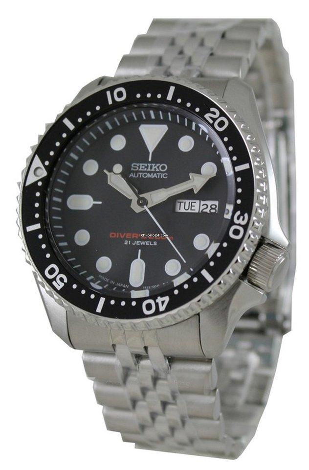 Seiko SKX007J SKX007J2 JAPAN MADE BOND Automatic Diver Stainless Steel Mens Watch