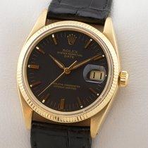 Rolex Oyster Perpetual Date μεταχειρισμένο 34mm Κίτρινο χρυσό