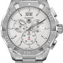 TAG Heuer Aquaracer 300M CAY1111.BA0927 - TAG HEUER CHRONOGRAPH SILVER DIAL new