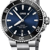 Oris Aquis Date Steel 43.5mm Blue United States of America, New York, Airmont