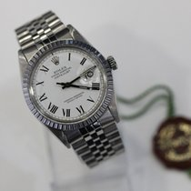 Rolex Datejust White Buckley Dial Roman Numerals