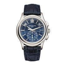百达翡丽  Complications Annual Calendar Chronograph Platinium Blue...