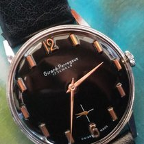Girard Perregaux Year 1960 steel case, black dial with gold...