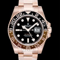 Rolex GMT Master II Black 18k Everose Gold 40mm - 126715chnr