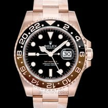 Rolex Rose gold Automatic Black 40.00mm new GMT-Master II