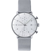 Junghans max bill Chronoscope 027/4003.44 New Steel 40mm Automatic