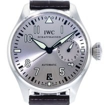 IWC Big Pilot pre-owned 46mm Silver Date Leather