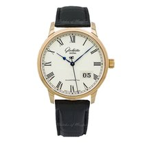 Glashütte Original Red gold Automatic Silver 40mm new Senator Panorama Date