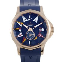 Corum Rose gold Automatic Blue 42mm new Admiral's Cup Legend 42