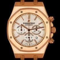 Audemars Piguet Royal Oak Chronograph Oro rosado 41mm Plata Sin cifras