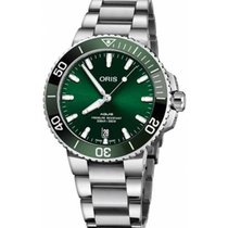 Oris Aquis Date Steel 40mm Green No numerals