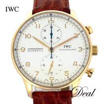 IWC Portugieser Chronograph gebraucht 41mm Silber Leder