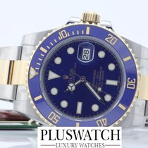 Rolex submariner 116613 116613LB STEEL GOLD blue