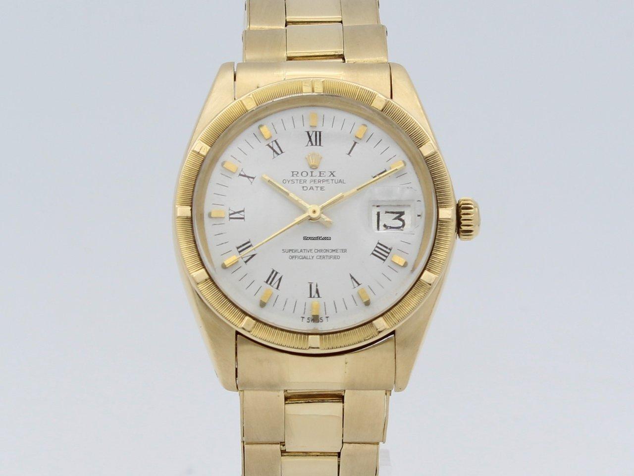 Date Perpetual Full Oyster Automatic Gold Rolex 18k 1JTlFKc